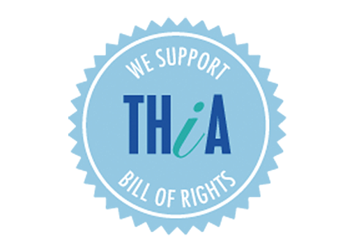 THiA logo | We support Bill of Rights